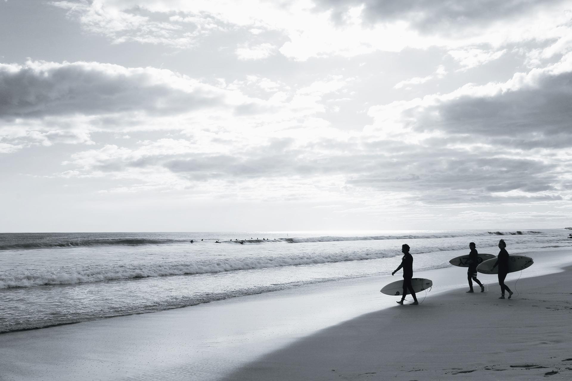 Surfing with friends in secret surf spots in Santa Teresa Costa Rica