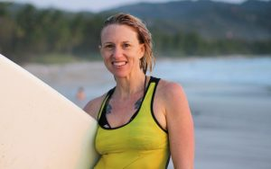 Happy Surfer after first surfing class