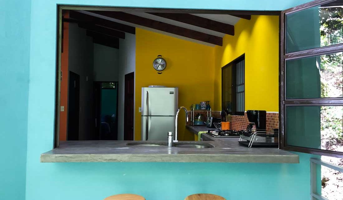 Beautiful big kitchen in Montezuma Hostel for sale