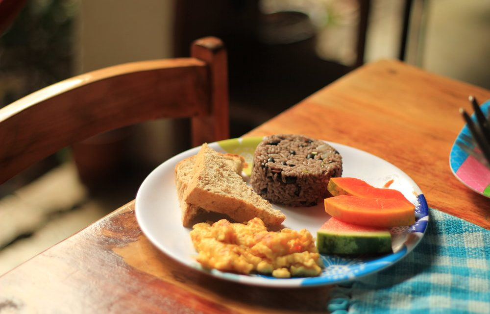Costa rica typical breakfast is very healthy and rich in energy