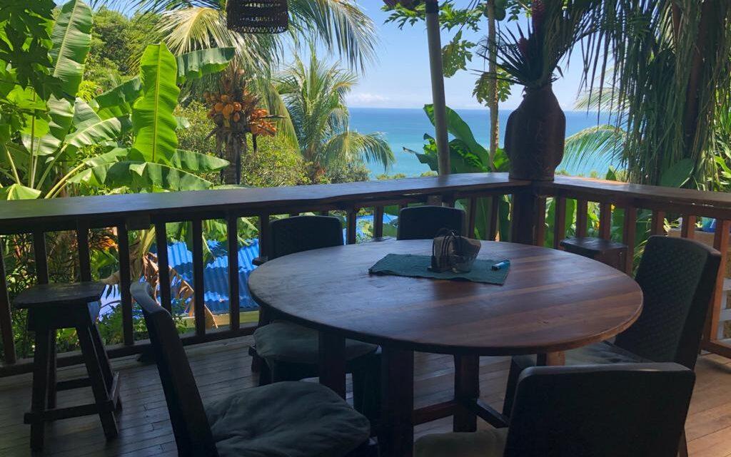 Ocean view breakfast area property for sale in Costa Rica