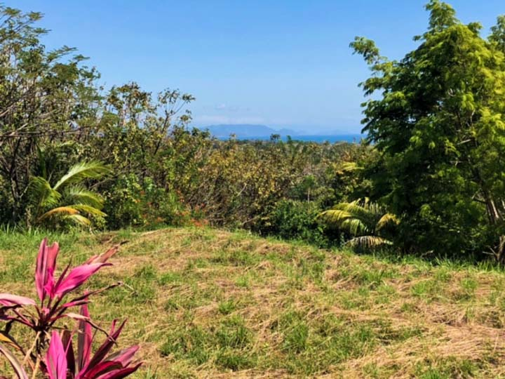 Costa Rica real estate with ocean view in blue zone area