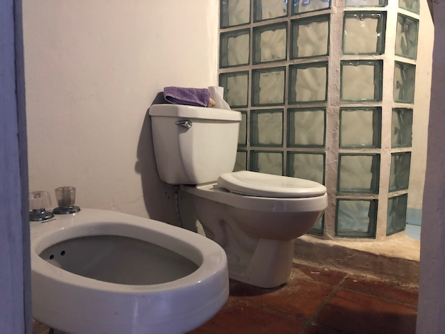 Italian style bathroom in Costa Rica house for sale near the sea